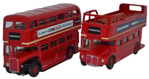 Oxford Diecast Twin Bus Set RT_RM - 1:76 Scale