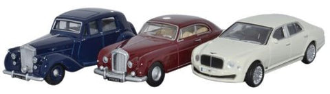 Oxford Diecast 3 Piece Bentley Set MkVI_Continental_ Mulsanne - 1:76 S