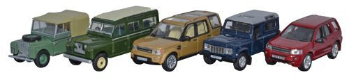 Oxford Diecast 5 Piece Land Rover Set I/II/Disco/Defender/Freelander - - OxfordDiecast