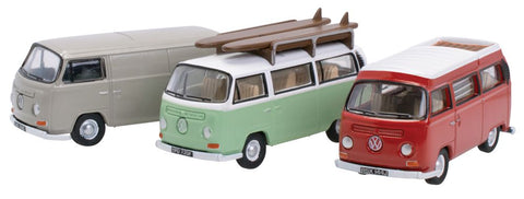 Oxford Diecast VW Bay Window Set Van/Bus/Camper