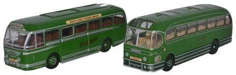 Oxford Diecast Southdown Centenary Set Leyland Royal Tiger & Weymann F