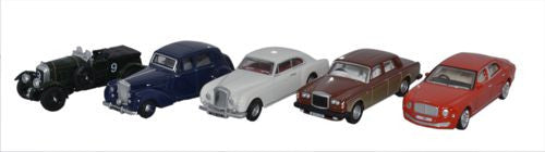 Oxford Diecast 5 Piece Bentley Set
