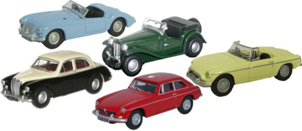 Oxford Diecast 5 Piece MG Set