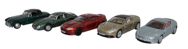 Oxford Diecast 5 Piece Aston Martin Set