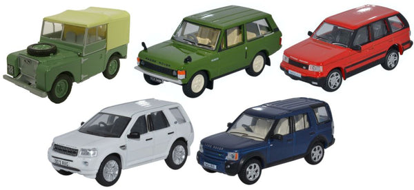 5 Piece Land Rover Classic Set - 1:76 Scale