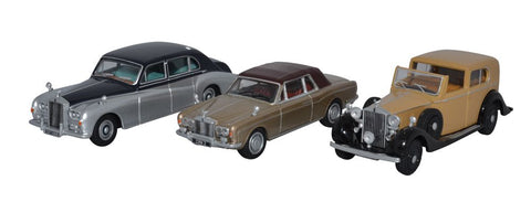 Oxford Diecast 3 Piece Rolls Royce Set