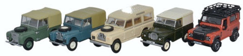 5 Piece Land Rover Set-1:76 Scale