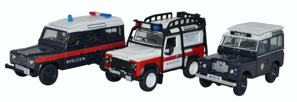 Oxford Diecast 3 Piece Set Hong Kong Police