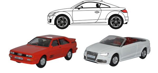 Oxford Diecast 3 Piece Audi Set Quattro/TT/S3 Convertible