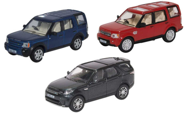 Oxford Diecast 3 Piece Land Rover Discovery Set 3/4/5