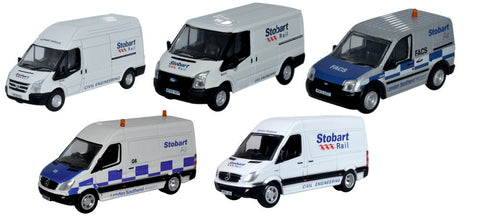 Oxford Diecast Stobart Group 5 Piece Van Set