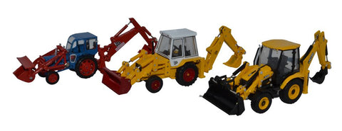 Oxford Diecast 3 Piece JCB Anniversary Set