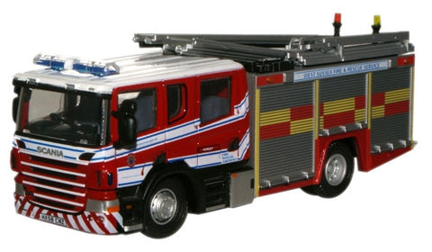 Oxford Diecast W. Sussex Fire & Rescue Service Scania CP31 Pump Ladder