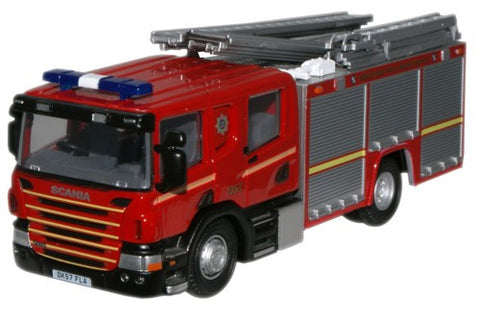 Oxford Diecast Merseyside Scania CP28 Pump Ladder - 1:76 Scale