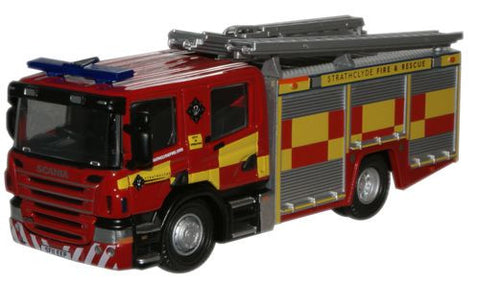 Oxford Diecast Strathclyde Scania CP28 Pump Ladder - 1:76 Scale