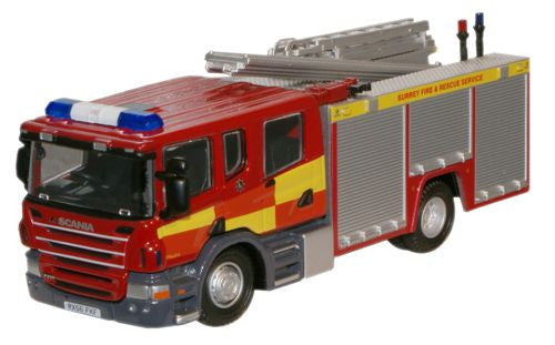Oxford Diecast Surrey F and R Scania CP31 Pump Ladder - 1:76 Scale