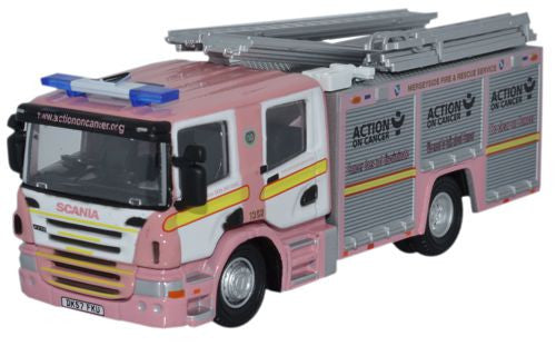 Oxford Diecast Merseyside Pink F and R Scania CP31 Pump Ladder - 1:76