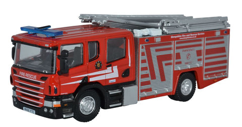 Oxford Diecast Scania CP31 Pump Ladder Shropshire Fire & Rescue