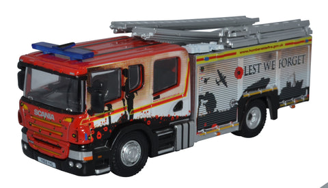 Oxford Diecast Humberside Fire And Rescue Pump Ladder - British Legion.