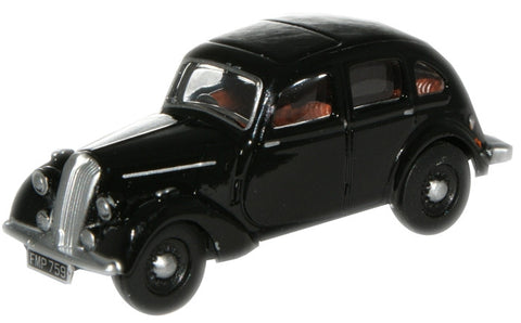 Oxford Diecast Black Standard Flying Twelve - 1:76 Scale