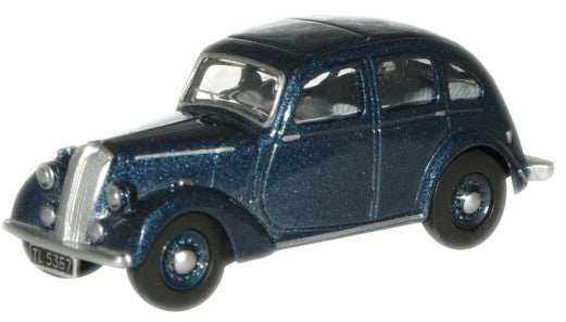 Oxford Diecast Blue Standard Flying Twelve - 1:76 Scale