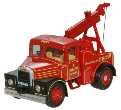 Oxford Diecast Crows Scammell Highwayman Crane - 1:76 Scale