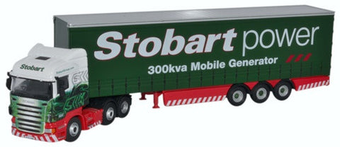 Oxford Diecast Scania Highline Curtainside Stobart Power