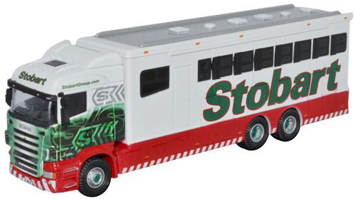 Oxford Diecast Eddie Stobart Scania Highline Horsebox - 1:76 Scale