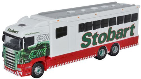 Oxford Diecast Scania Highline Horsebox - 1:76 Scale