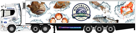 Oxford Diecast Scania S Series Highline Fridge Whitelink Seafoods