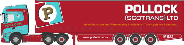 Oxford Diecast Scania S Series Curtainside Pollock