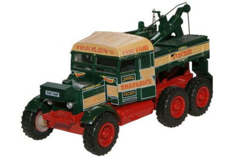 Oxford Diecast Traylens Funfair Pioneer Recovery Tractor - 1:76 Scale