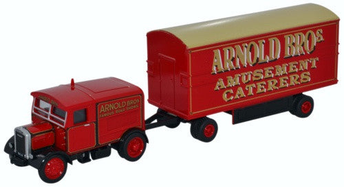 Oxford Diecast Scammell Showtrac & Dodgem Trailer Arnold Bros