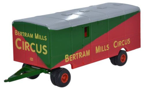 Oxford Diecast Showmans Trailer Bertram Mills - 1:76 Scale