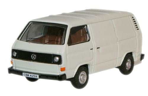 Oxford Diecast Pastel White VW T25 Van - 1:76 Scale
