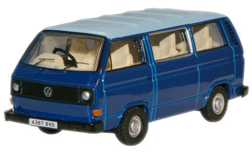 Oxford Diecast Cornat Blue/Guinea Blue VW T25 Bus - 1:76 Scale