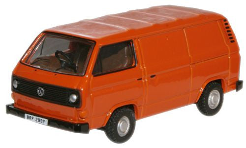 Oxford Diecast Brilliant Orange VW T25 Van - 1:76 Scale