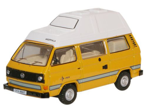 Oxford Diecast Bamboo Yellow VW T25 Camper - 1:76 Scale