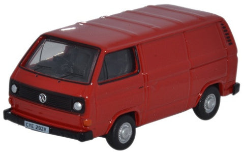 Oxford Diecast VW T25 Van Orient Red - 1:76 Scale
