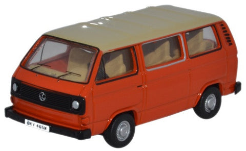Oxford Diecast VW T25 Bus Ivory/Brilliant Orange - 1:76 Scale