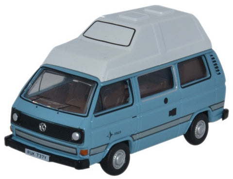Oxford Diecast VW T25 Camper Medium Blue_White - 1:76 Scale