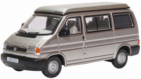 76T4005  Oxford Diecast VW T4 Westfalia Camper Silver Grey 1:76 Scale