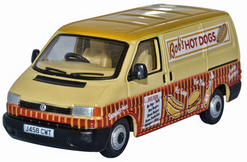 76T4007 Bobs Hot Dog VW T4 Van Oxford Diecast 1:76 Scale