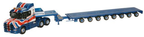Oxford Diecast Ridgway Rentals T Cab Low Loader - 1:76 Scale