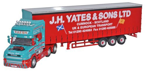 Oxford Diecast Scania T Cab Topline Curtainside J H Yates and Sons Ltd