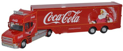 Oxford Diecast Coca Cola T Cab Box Trailer - 1:76 Scale
