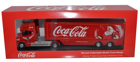 Oxford Diecast Coca Cola T Cab Box Trailer - 1:76 Scale. With Free Coca Cola Transit Van - Limited Offer while stocks last.