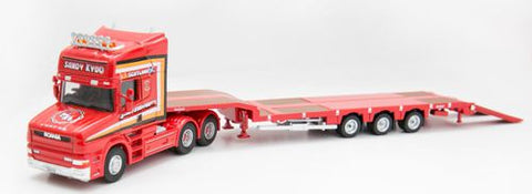 Oxford Diecast Scania T Cab 3 Axle Nooteboom Semi Low Loader Sandy Kyd