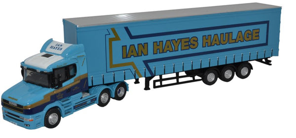 Oxford Diecast Scania T Cab Curtainside Ian Hayes