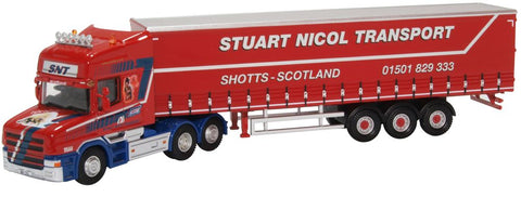 Oxford Diecast Scania T Cab Short Curtainside Stuart Nicol Transport